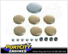 Welch Welsh Brass Core Plug Kit Set for Ford V8 BB 390 410 427 428 WPK-F390