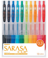 Zebra gel ball pen sarasa clip 0.3 10 colors JJH15-10CA Ballpoint Pens Japan