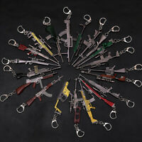 3D Gun Weapon Car Key Chain Men's Key Ring Eat Chicken Game Mini Player Gifts