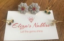 Multi Colour CZ AD Earrings