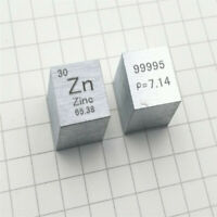 Metal zinc periodic table cube side length 10mm Zn 99.995 zinc cubic element