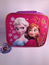 Disney Frozen Anna Elsa & Olaf Sparkle Glitter Soft Lunch Snack Insulated Bag
