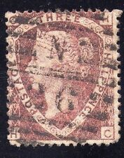 Great Britain Sc #32a  Lake Red plate 3 Used