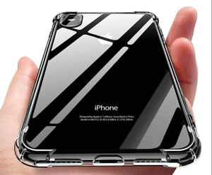 for iPhone e XR XS MAX XS SE 2 Luxury Slim Shockproof Silicone Clear Case Cover