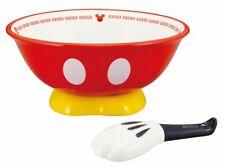 Disney Mickey Japanese Noodle Ramen Bowl spoon & Soup Bowl Plate Japan limited