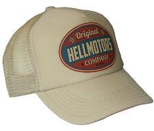 Hellmotors Trucker Cap V8 US Car khaki Basecap Mütze Old School Hut Vintage sand