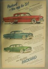 Packard Car Ad: Three New Models Patrician, 300 and 200 Packard 1951 Models