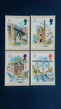 1989 INDUSTRIAL ARCHAEOLOGY STAMPS PHQ CARDS WITH A BEDFORD C.D.S