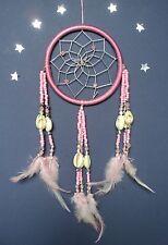 DREAM CATCHER SINGLE PRETTY LIGHT PINK GOOD QUALITY DC12 pink bead shell detail