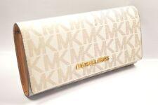 MICHAEL KORS 35H6GYAE7B Jet Set Signature Vanilla Acorn Carryall Clutch Wallet