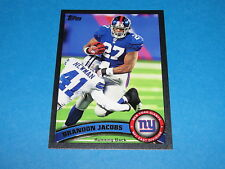 2011 Topps Brandon Jacobs Black Sp/55 New York Giants Southern Illinois Salukis