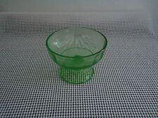 Vintage-Depression Era Vaseline Glass- Candy Dish