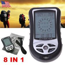 8 IN 1 Multifunctional Digital Compass Barometer Altimeter Thermometer Clock NEW
