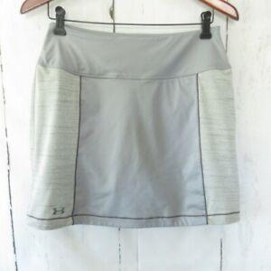 Under Armour Heat Gear Skirt Skort M Semi Fitted Gray Golf Tennis Shorts