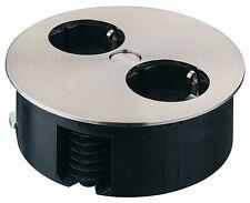 MESA Enchufe empotrable steckdosen-element Giratorio Pro de 2-fach 230V