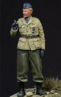 1 Resinfig. 1/35: Panzer Kommandant rauchend mit Schiffchen, Wehrmacht, ohne OV