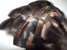 30 Eastern Wild Turkey Gobbler Feathers (Bronze, Copper, Gold) 3 - 4 1/2