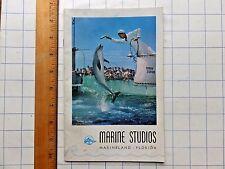 1950 Marine Studios Booklet. Marineland, Florida. Includes illustrated fish desc
