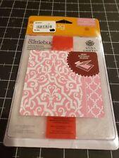 Cuttlebug 5x7 Embossing folder template set  Anna Griffin Elaborate quatrefoil