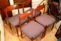 Teak Chairs Set of 4/Set, Chair for dining room, DANISH DESIGN 60' 60er Chair