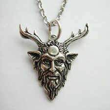 925 Sterling Silver Horned God Necklace - Cernunnos Pendant - Wiccan Pagan
