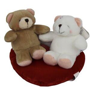 Forever Friends Valentine Bears on Heart Cushion NWT Hallmark Valentines Day