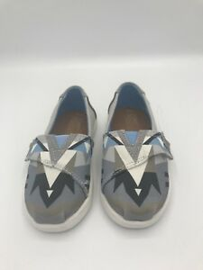 TOMS T6 Gray And Blue New Girls-Boys New