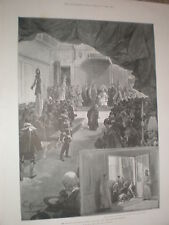 The English pilgrims in Rome Pope Leo XIII receives their address 1900 old print