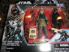 Star Wars Rogue One 3.75 Rebel Commando Pao & Imperial Stormtrooper.