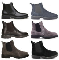IGI & CO scarpe uomo alte polacchine stivaletti pelle camoscio slip on tacco