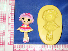 LalaLoopsy Silicone Mold Resin Clay Candy Bookscraping A485 Chocolate