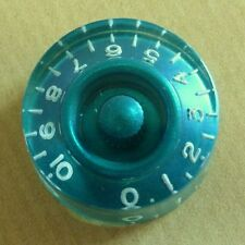 POP-KNOB guitar speed knob in PETROL BLUE with white numbers