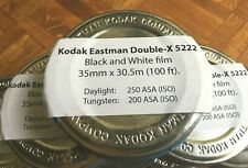 Kodak Eastman Double-X Black-and-White Negative Film 5222 (35mm, 100' ), New!