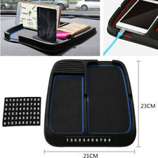 1x Universal Car Dash Console Anti-slip Silicone Pad Mat Phone Card Coin Holder