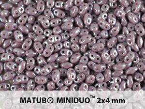 CHOOSE COLOR! 10g 2x4mm 2-hole MiniDuo Seed Beads Czech Glass
