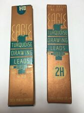 Vintage Eagle Turquoise Drawing Leads For Mechanical Pencils Hb & 2H