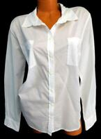 Merona white plus size long sleeve career solid button down top XXL