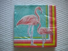 New 20 count Creative Converting Brand Paper Luncheon Napkins FLAMINGO THEME