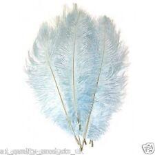 """10 X Large plumas de avestruz -30"""", 20"""", azul pálido, 51-76cm de largo, 100% natural teñido"""