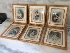 Set of 6 Byron's Beauties Drawn Meadows Engraved Ryall Artwork Corbaux Finden