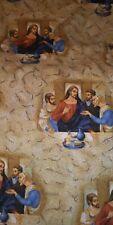 Cranston Cotton fabric Jesus Christ religious The Last Supper BTHY