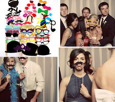 58P DIY Masks Photo Booth Props Mustache On A Stick Wedding Birthday Party Favor