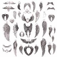36Pcs Angel Wings Charms Pendants DIY Handmade Earrings Necklace Jewelry Making