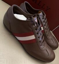 New $600 Bally Men Harlam Leather Sneakers Shoes Brown 6.5 US Switzerland