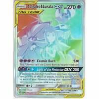 254/236 Solgaleo & Lunala TAG TEAM GX Rare Rainbow Card Cosmic Eclipse Pokemon