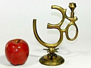 Meditation Brass Incense Burner Om Ohm Sign