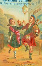 1870's Ale & Brandy Dancy Scottish Au Gamin De Paris Goulon Shoes Boots Card F84