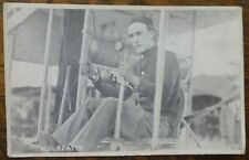 Aviation Postcard Aviator W.G.Beatty -Max Rigot Publisher Powers Bldg Chicago