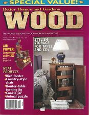 Wood Magazine #69 April 1994  animal puzzle, cookie jar, country style chair