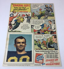 1953 Wheaties comic strip ad page TOM FEARS ~ LA Rams